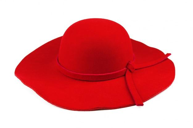 Elegante vrouw rode hoed