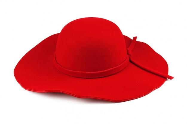 Elegante vrouwen rode hoed