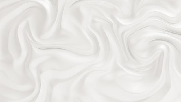 Elegante witte achtergrond met vloeiende stof golven. 3d-weergave.
