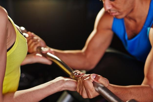 Elektrisch persoon workout-up