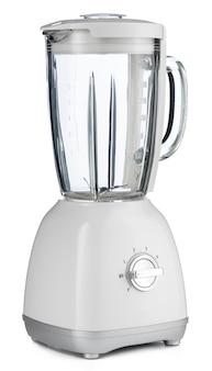 Elektrische mixer die op wit wordt geïsoleerd