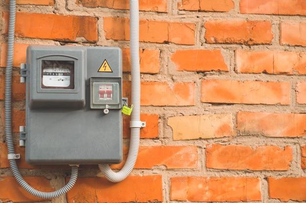 Elektrische vermogensmeter die het stroomverbruik meet