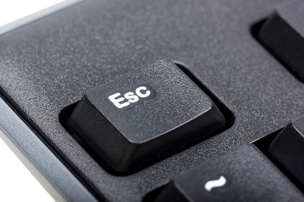 Elektronische collectie - detail zwart computertoetsenbord met toets esc