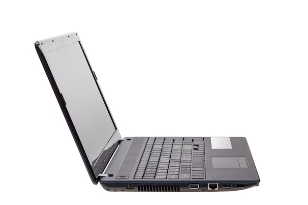 Elektronische collectie - moderne laptop geïsoleerd op een witte achtergrond