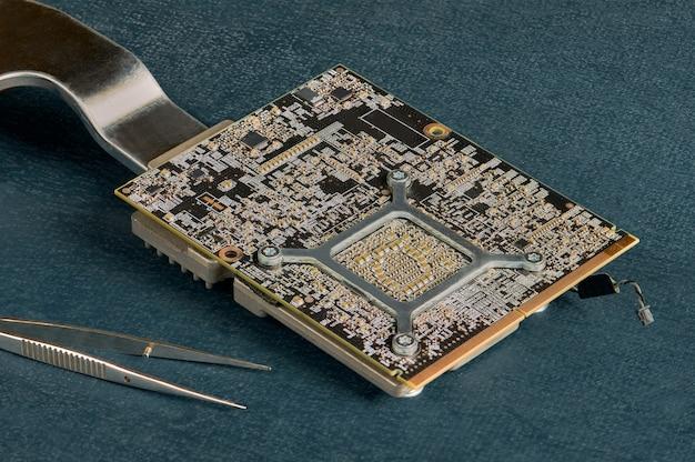 Elektronische computerhardwaretechnologie. printplaat