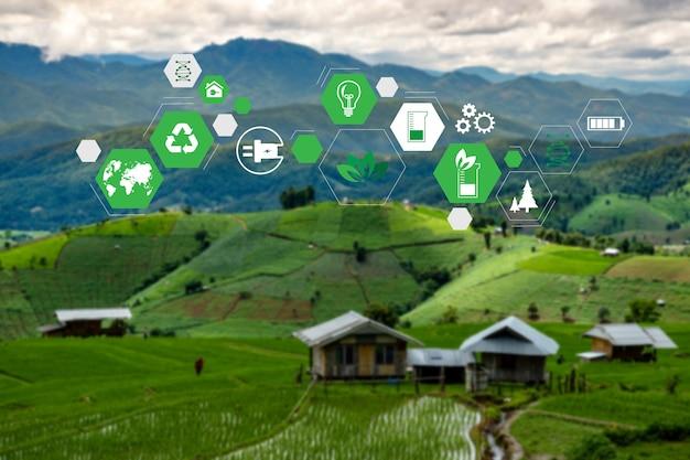 Elementen energiebronnen duurzaam