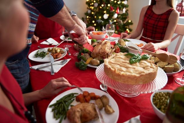 Elk jaar traditie tijdens de kerstavond