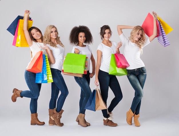 Elke vrouw houdt niet van beperkt winkelen