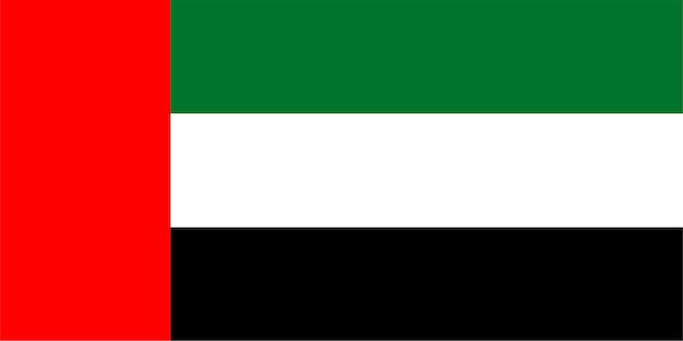 Emirati vlag van verenigde arabische emiraten