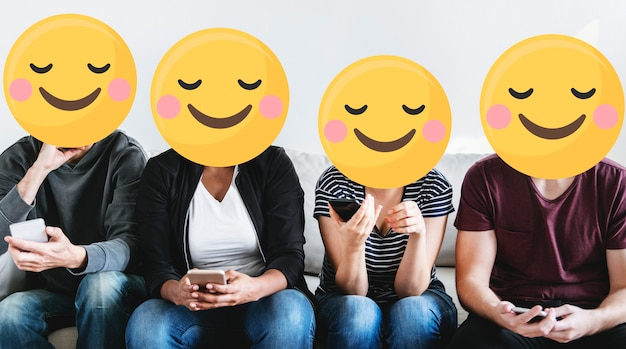 Emoji gezichten op sociale media
