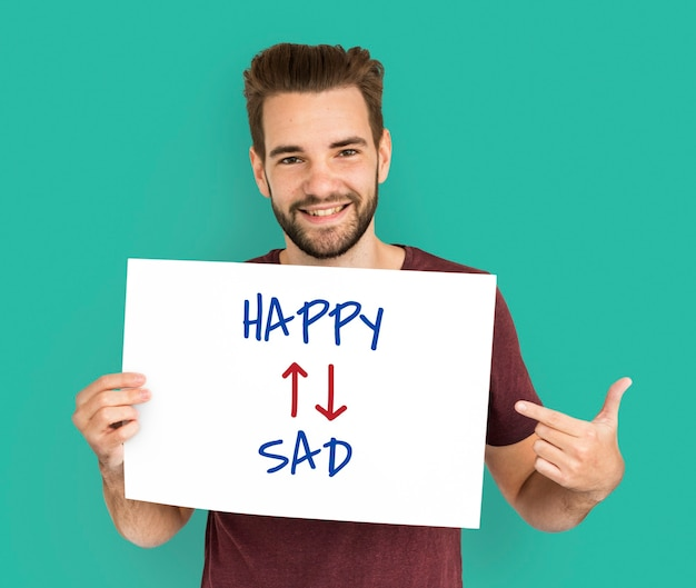 Emotionele houding mindset optimistisch positief