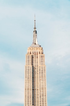 Empire state building in de stad van new york