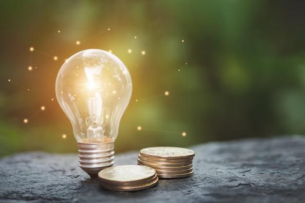Energie besparen en financieringsconcept