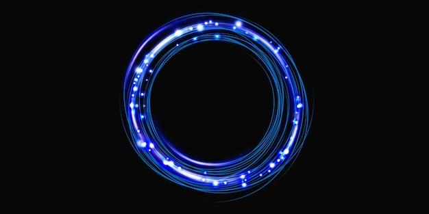 Energie ring gloed cirkel 3d-rendering technologie abstracte achtergrond