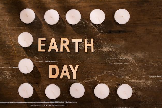 Energiebesparend. concept voor het uur van de aarde, een uur zonder licht