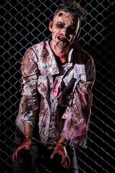 Enge zombie kostuum cosplay
