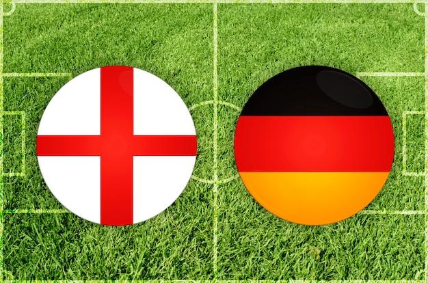 Engeland vs duitsland voetbalwedstrijd
