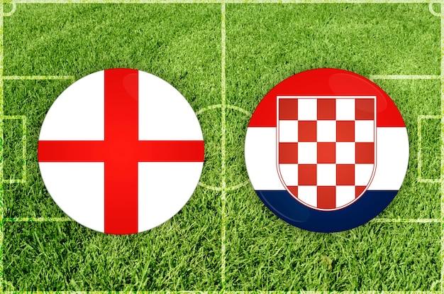 Engeland vs kroatië voetbalwedstrijd
