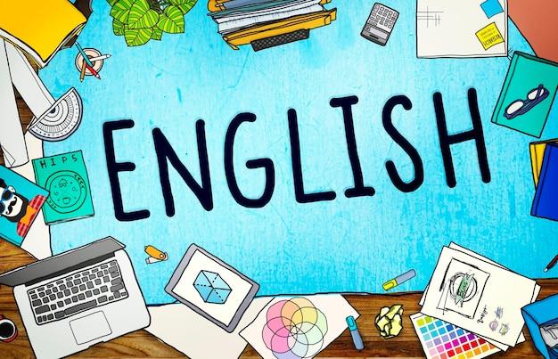 Engels brits engeland taalonderwijs concept