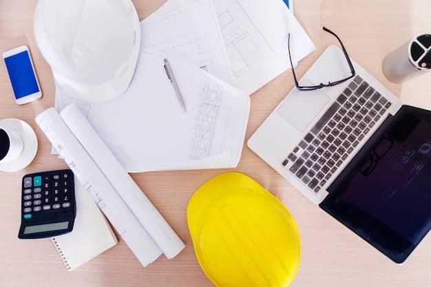 Engineering en constructie concept.