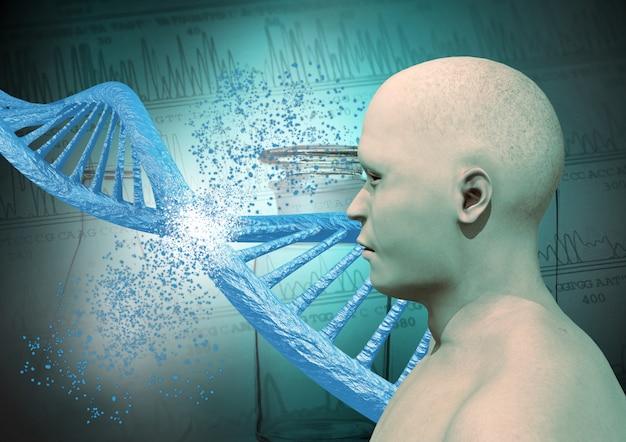 Engineering en genetische bewerking via de crispr-techniek. genetische mutatie.