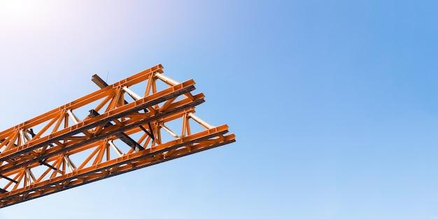 Engineering snelweg brugconstructie van metalen staal architectuur in de bouwsector