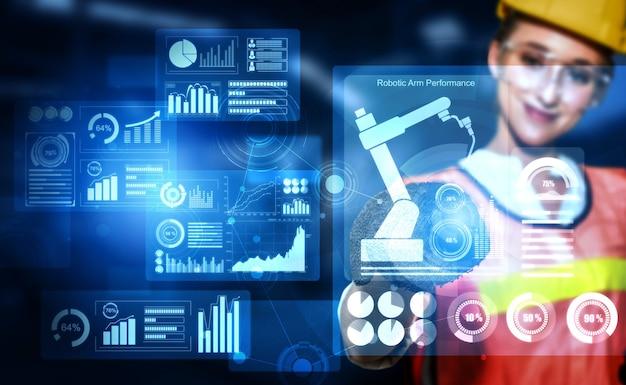 Engineering technologie en industrie 4.0 smart factory-concept