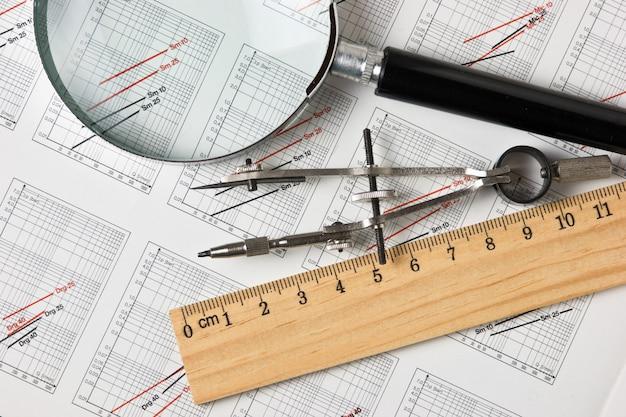 Engineering tools op een technische tekening