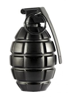 Enige granaat op geïsoleerde witte achtergrond
