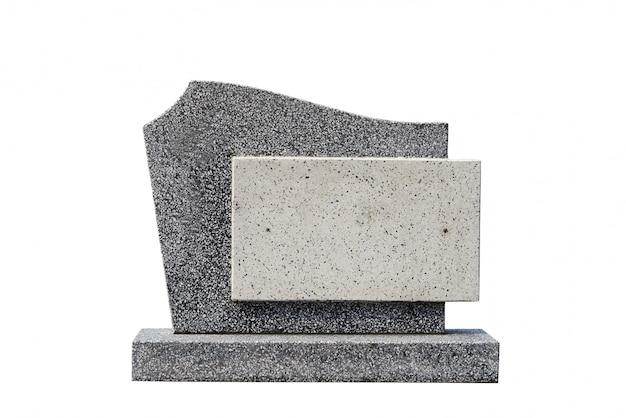 Enkele grafsteen uitgeknipt