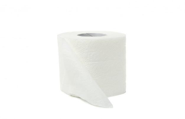 Enkele wc-papier geïsoleerd