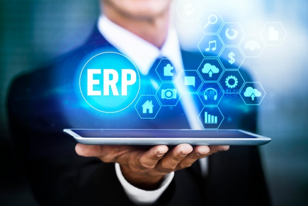 Enterprise resource planning holografische interface