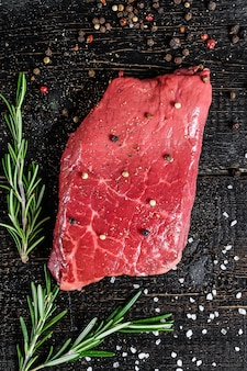 Entrecote. rund vlees. bovenaanzicht