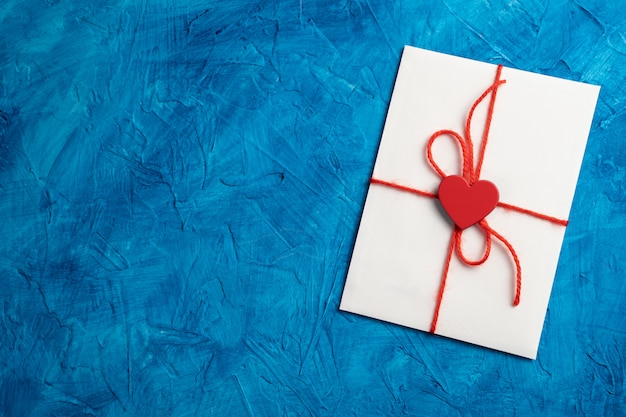 Envelop met een hart voor liefhebbers