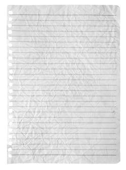 Er is een pagina afgescheurd van het notitieboekje.