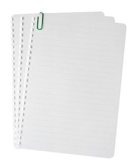 Er is een pagina uit het notitieboek gescheurd.