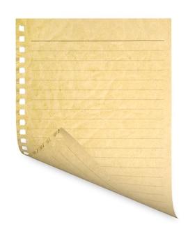 Er is een pagina uit het notitieboekje gehaald.