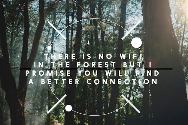 Er is geen wifi in het bos maar nieuwe verbinding.