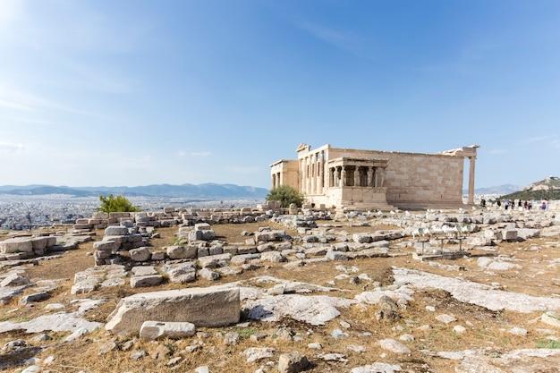 Erechtheion tempel akropolis in athene, griekenland