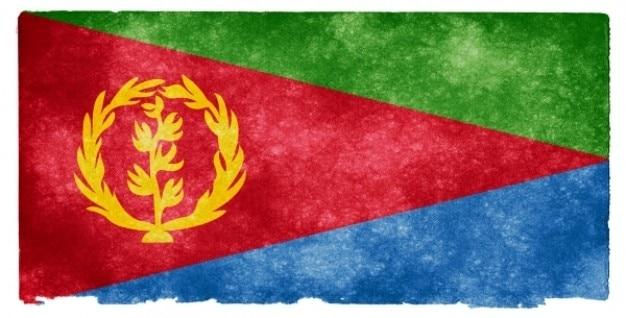 Eritrea grunge vlag