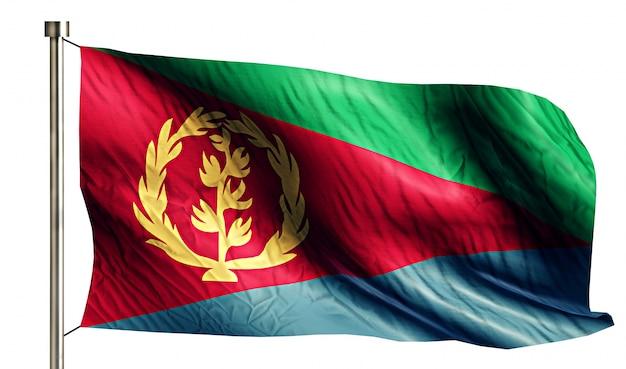 Eritrea national flag geïsoleerde 3d witte achtergrond