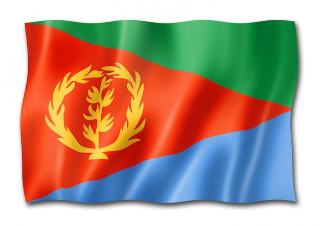 Eritrese vlag geïsoleerd op wit
