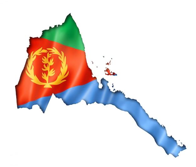 Eritrese vlag kaart