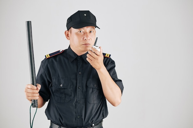 Ernstige politieagent