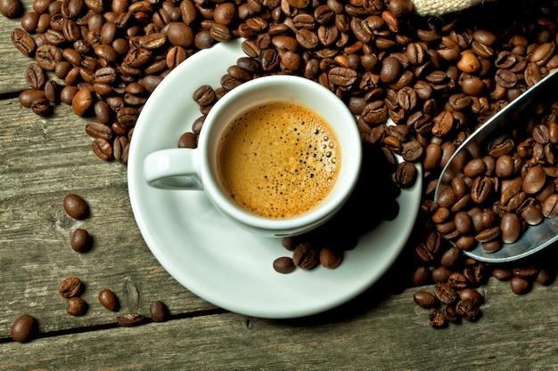 Espresso en koffiebonen