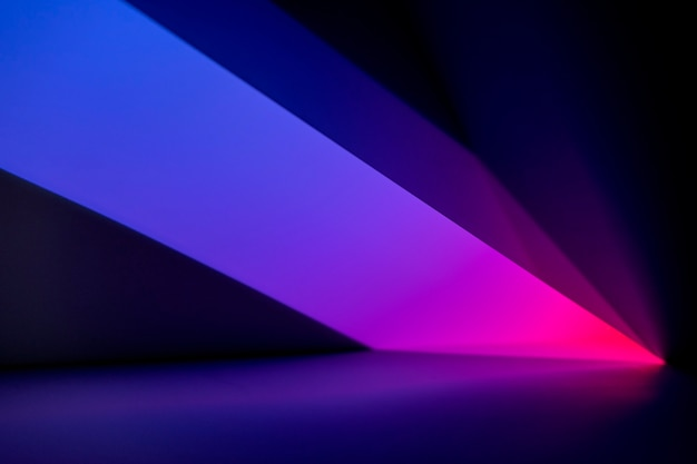 Esthetische achtergrond met abstract neon led-lichteffect