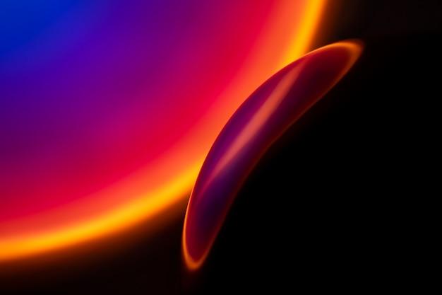 Esthetische achtergrond met abstracte zonsondergangprojectorlamp