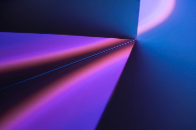 Esthetische achtergrond met gradiënt neon led-lichteffect