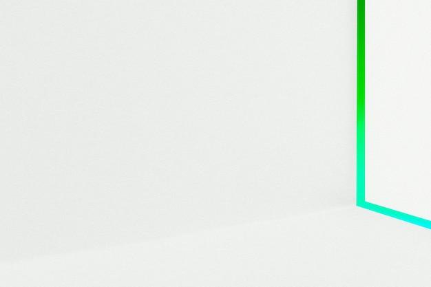 Esthetische achtergrond met groen en wit lichteffect