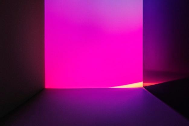 Esthetische achtergrond met roze neon led-lichteffect